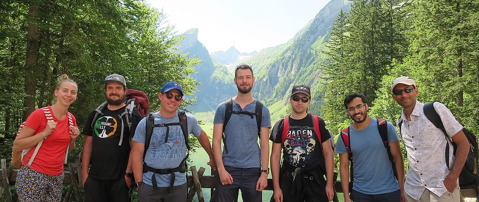 Image of the Gillingham group members at the group outing at Seealpsee, 2019